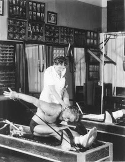 Clara and Joe Pilates at the Studio in New York.