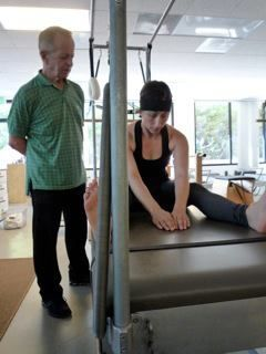 Mr. Jay Grimes and Amy Kellow at Vintage Pilates. 2011